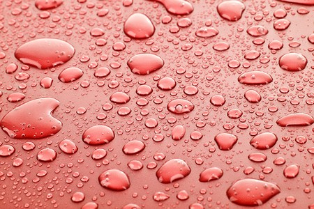 Red water drops background Stock Photo - 8129182