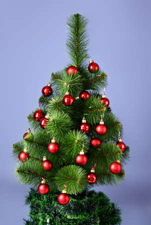 Christmas tree with glass red balls Stock Photo - 8408438