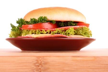 hamburger isolated on white photo