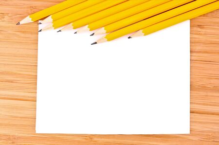Pencils, paper and ruler Stock Photo - 8915038
