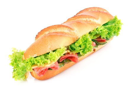 Sandwich isolated on white Stock Photo - 9005368