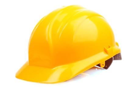 hard hat: Yellow helmet isolated on white