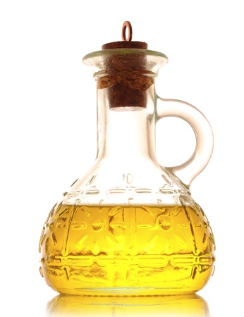 Bottiglia di olio isolata on white