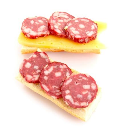 sandwiche: Sandwiche con salumi, formaggi e pane