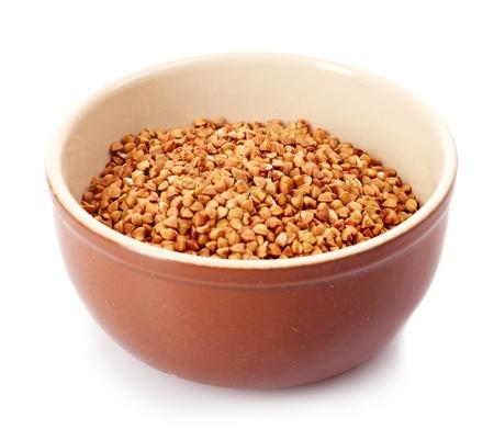 Buckwheat isolated on white photo