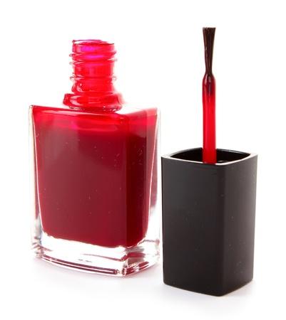 nail polishes isolated on white photo