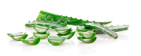 Aloe vera isolated on white Stock Photo - 9489294