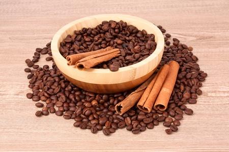 coffee  with cinnamon photo