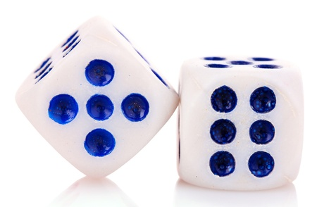 Dices isolated on white photo