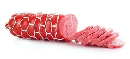 Sausage isolated on white Stock Photo - 9621014