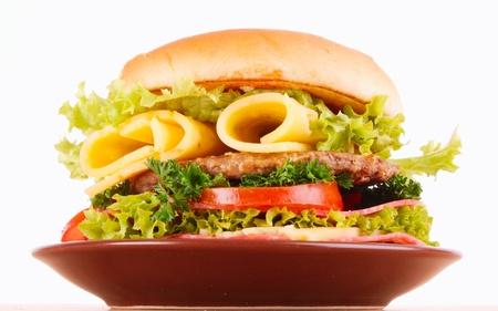 mahonesa: Sandwich aislado en blanco