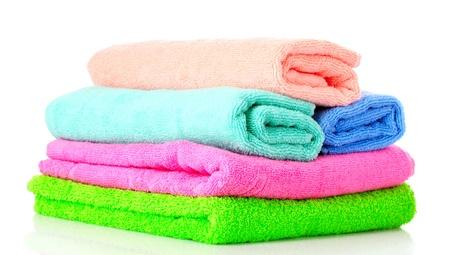 Quelques serviettes isolés sur fond blanc