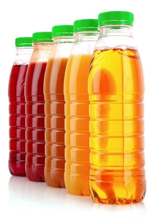 juice bottle: Bottles with juice isolated on white