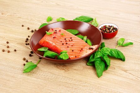 Salmon basil photo