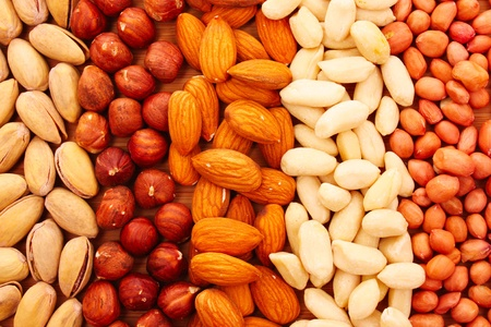 Different types of nuts Stock Photo - 9659946