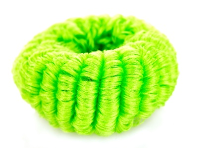 scrunchy: Scrunchies isolated on white Stock Photo