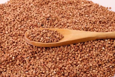 Buckwheat and spoon photo