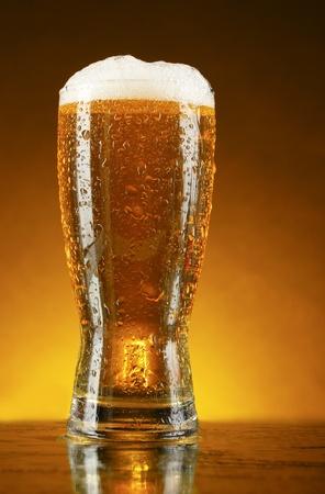 Glass of beer on dark background Stock Photo - 9902711