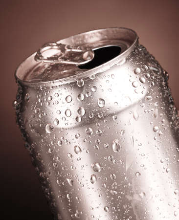 cans on a gray background photo