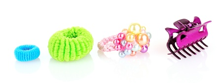 scrunchy: Barrette and Scrunchy  isolated on white