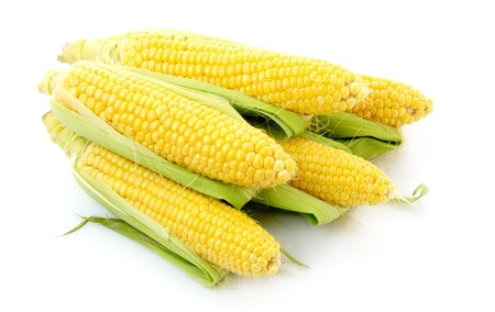 corn kernel: Corn isolated on white Stock Photo
