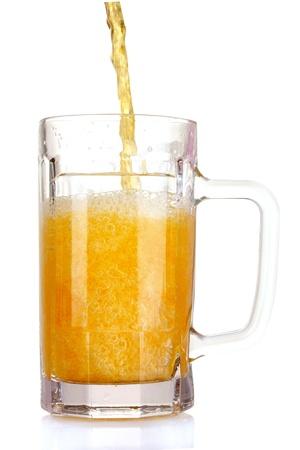 mug of beer isolated on white Stock Photo