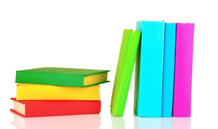 Books isolated on white Stock Photo - 10249141