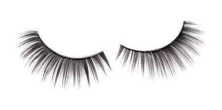 false eyelashes isolated on white Stock Photo - 10249113