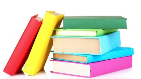 Bücher, isoliert auf weiss Standard-Bild