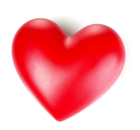 red heart isolated on white Stock Photo - 10359272