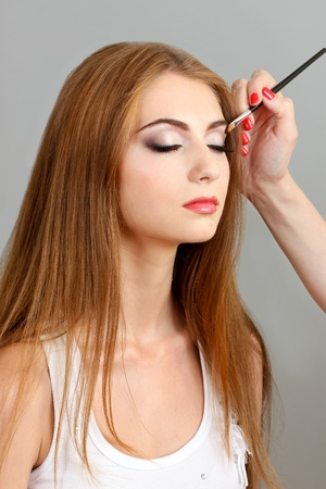 Professional permanent makeup applying Stock Photo - 10410032