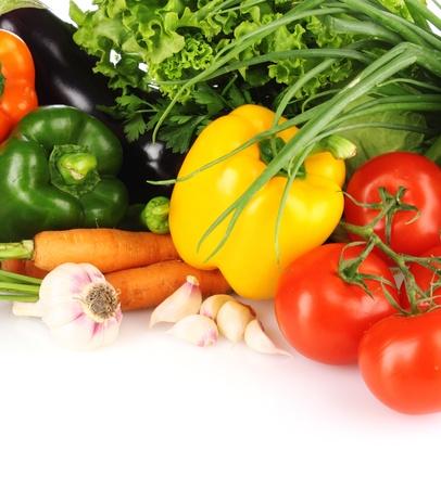 pimenton: hortalizas aislados en blanco Foto de archivo