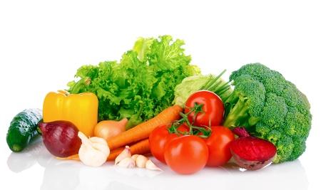野菜な白で隔離 写真素材
