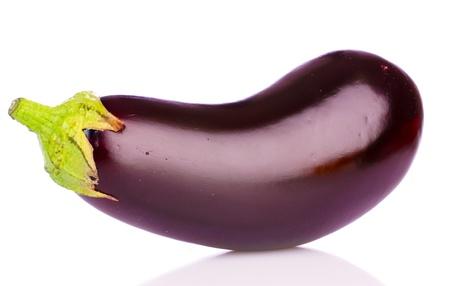 eggplant: eggplant isolated on white Stock Photo