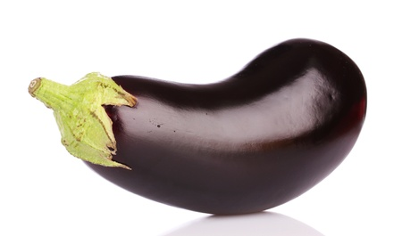 eggplant isolated on white photo