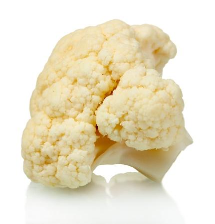 Piece of cauliflower isolated on white photo