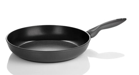 pan isolated on white photo