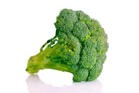 Broccoli isolated on white photo