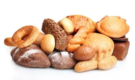 pains savoureux et roule isol� sur blanc
