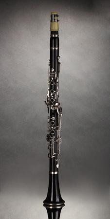 beautiful clarinet on a gray background Stock Photo - 11192729