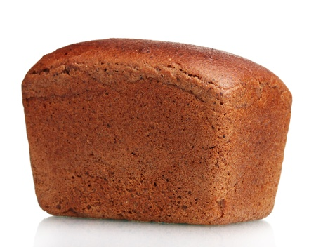 delicious rye bread isolated on white photo