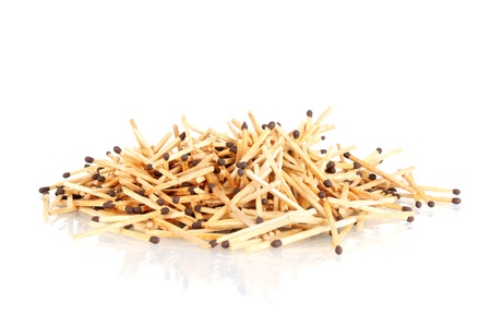 pile of matches isolated on white Stock Photo - 11288194