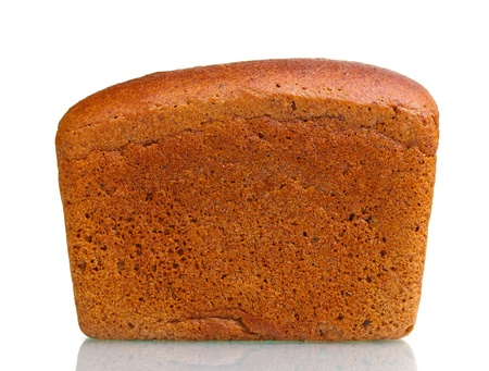delicious bread isolated on white photo