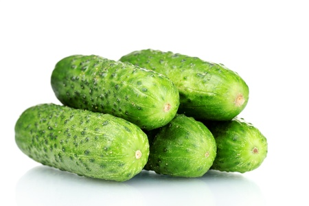 cuke: Cucumbers isolated on white