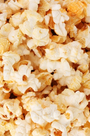 tasty popcorn closeup photo