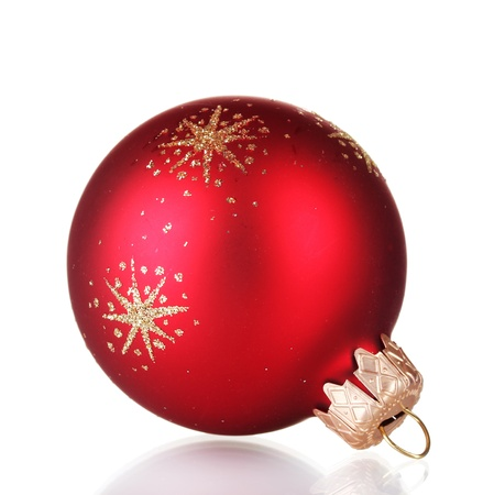 isolataion: red christmas ball isolated on white background Stock Photo