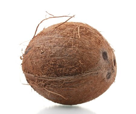Сoconut isolated on white photo