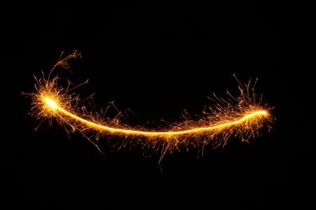 beautiful sparkler on black background photo