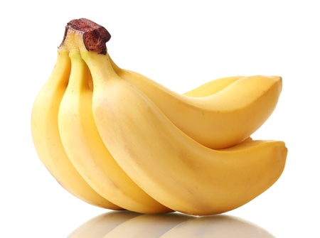bannana: Bunch of bananas isolated on white Stock Photo