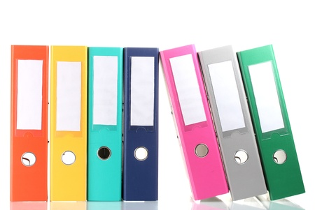 Office folders isolated on white Stock Photo - 11831957